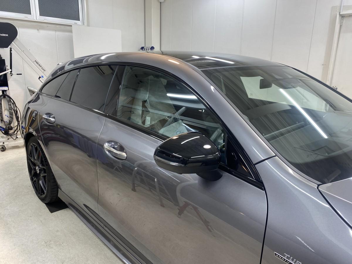 メルセデスベンツCLA35シューティングブレイクカーコーティング カーラッピング施工 From 大阪府吹田市